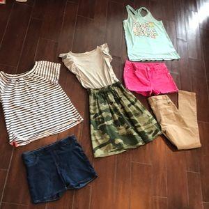 6 pc bundle girls 14 clothing items spring summer